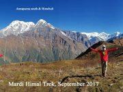 Image shows trekkers in Mardi Himal Trek