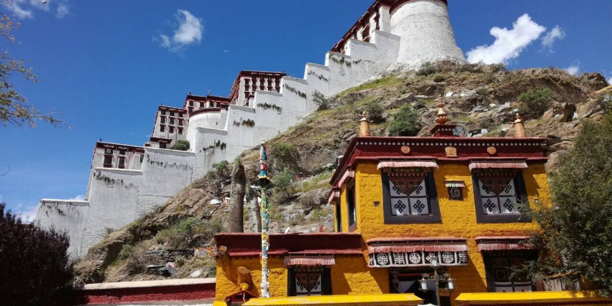 An image shows a side of Tibet Potala Palace